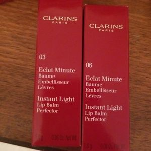 Two instant light lip balms